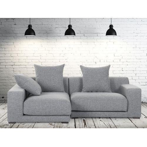 Sofa narozna P - tapicerowana - perlowoszara - CLOUD, Beliani
