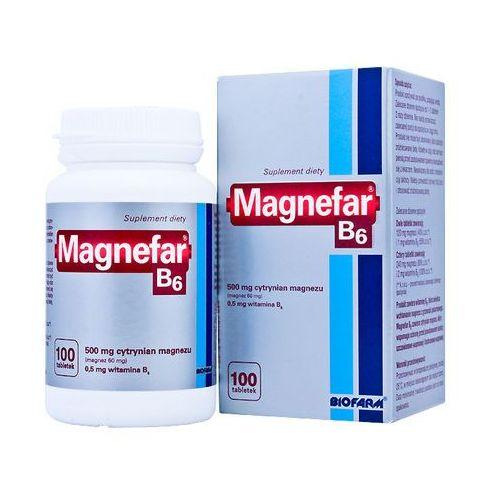 MAGNEFAR B6 100 tabletek, postać leku: tabletki