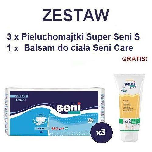 Produkt Pieluchomajtki Super Seni (1) Small 3op. x 30szt + Balsam Seni Care