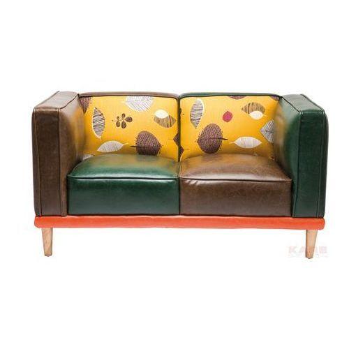 Leaf Sofa 2 Osobowa Skóra Ekologiczna Kolorowa 130x72x69cm - 78322, Kare Design