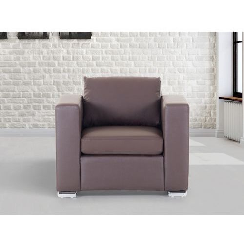 Skórzany fotel brazowy - sofa - HELSINKI, Beliani