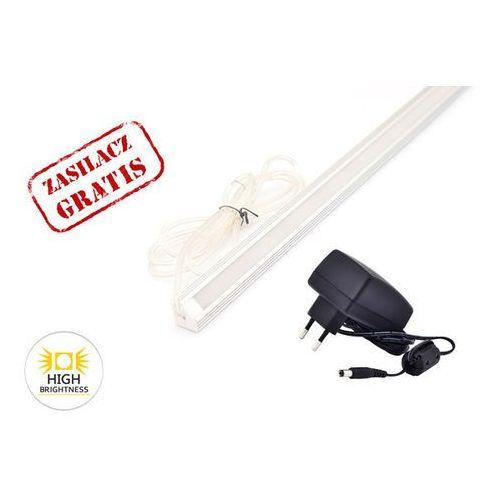 ALUMINIOWY PROFIL LED ROGOWY 100cm + ZASILACZ GRATIS z kategorii oświetlenie