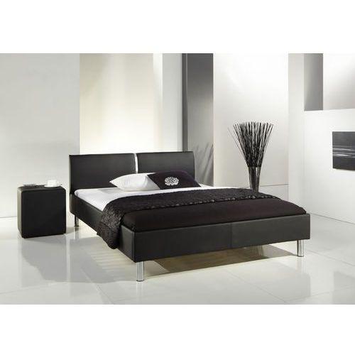 Łóżko z ekoskóry LALUNA 140 x 200 w kolorze czarnym ze sklepu Meble Pumo