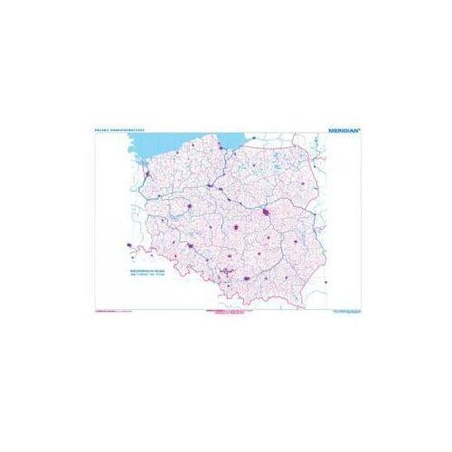 Produkt Polska konturowa. Mapa ścienna Polski., marki Meridian