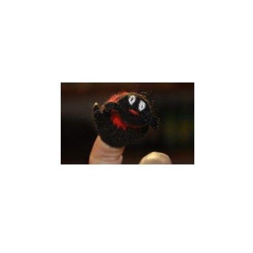 Pacynka, laleczka wełniana na palec - biedronka (pacynka, kukiełka)