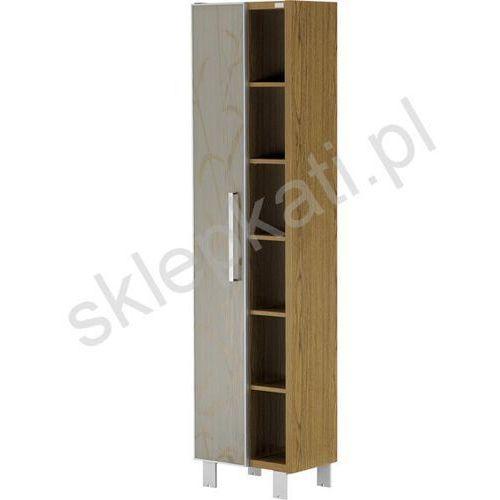 CERSANIT Silva słupek LEWY, kolor Dąb Rustykalny S530-006 - produkt z kategorii- regały łazienkowe