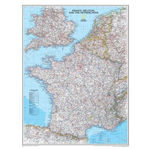 Francja, Belgia, Holandia. Mapa ścienna Classic magnetyczna w ramie 1:1 953 000 wyd. , produkt marki National Geographic