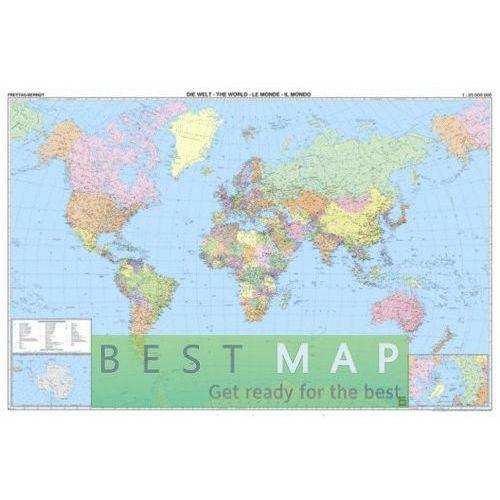 Świat. Mapa ścienna polityczna magnetyczna w ramie 1:25 mln wyd. Freytag & Berndt, produkt marki Freytag&Berndt