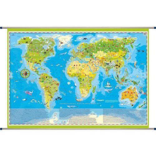 Zwierzęta Świata mapa ścienna dla dzieci od SELKAR