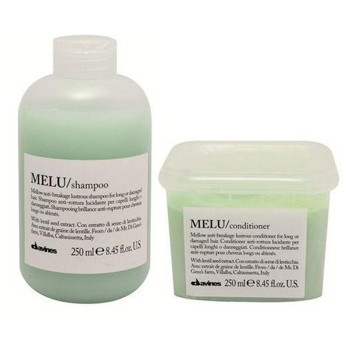 Davines Melu - zestaw do włosów kruchych i łamliwych: szampon+odżywka 2x250ml - produkt z kategorii- odżywki do włosów