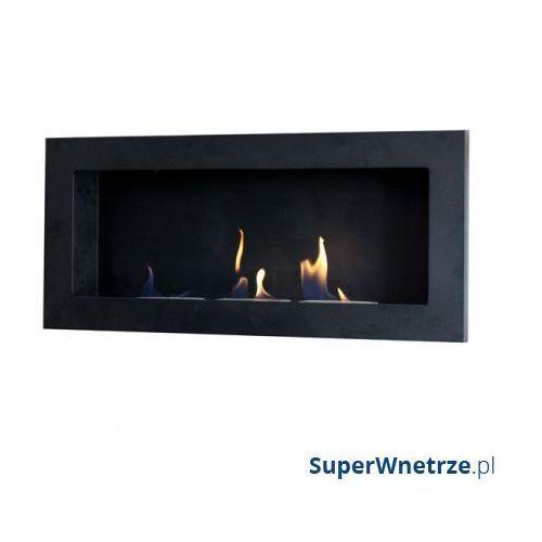 Biokominek dekoracyjny prostokątny 90x40 EcoFire Flat czarny - oferta [353dea0e21e2c5cc]