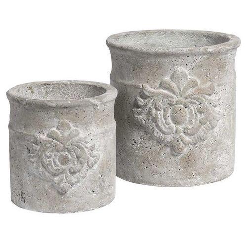 Produkt Donica osłonka Grigio Ornament wysoka, marki Kolekcja Belldeco