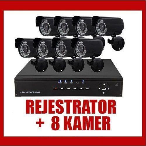 Rejestrator h.264+ 8 kamer dzień/ noc cctv wyprodukowany przez Kamery