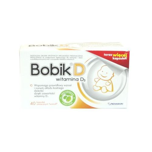 Bobik D (wit.D3) kaps.otwier.twist-off - 40 kaps., postać leku: kapsułki