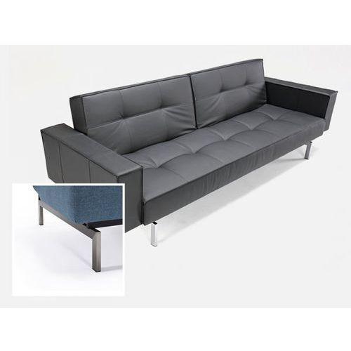 Sofa Splitback z podłokietnikami czarna 582 nogi stalowe  741010020582-741010020-8-2, INNOVATION iStyle