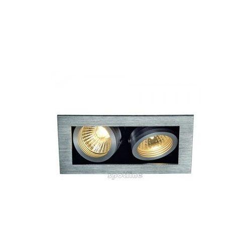 Spotline ALU BOX II GU10 downlight, kwadrat, alu szczotkowane, max. 2x50W 115526 z kategorii oświetlenie