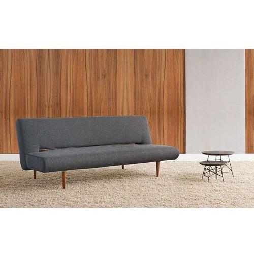 Istyle Unfurl, Sofa Rozkładana, grafitowa tkanina 514, nogi drewniane - 772001514-3-2, Innovation