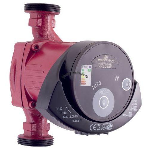 Towar z kategorii: pompy cyrkulacyjne - pompa elektroniczna GPA25-60-180 WEBERMAN (RED) obiegowa do c.o.