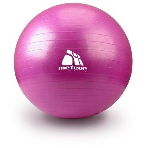 Piłka Fitness  55 cm z pompką różowa, produkt marki Meteor