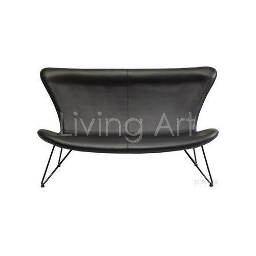 Sofa Miami Black 3-Seater Econo, kare design