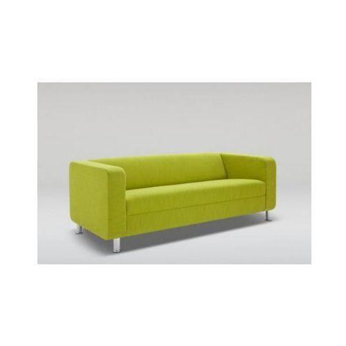 Sofa CUBBY trzyosobowa skóra naturalna / nogi chrom, Marbet Style