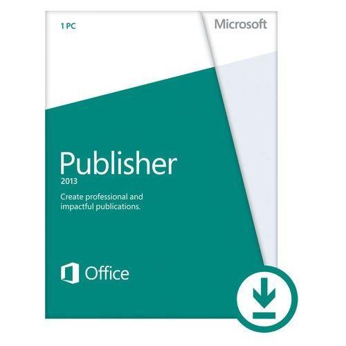 Microsoft Publisher 2013 - 1 komputer PC - Angielski - Do pobrania, kup u jednego z partnerów