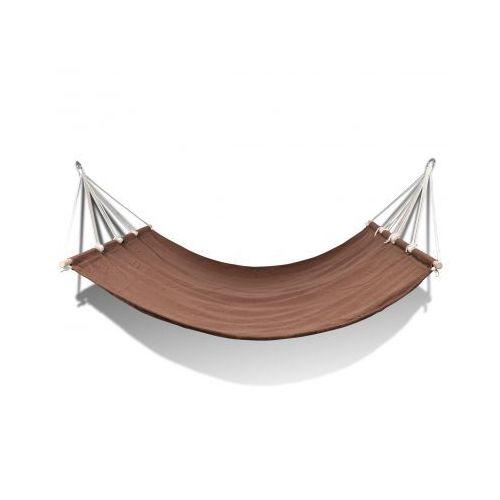 Hamak z drążkiem, brąz (210 x 150 cm)., produkt marki vidaXL