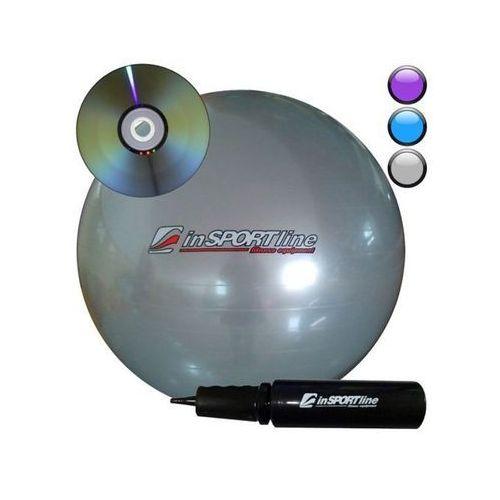 Produkt INSPORTLINE Comfort Ball 95 cm z pompką + DVD IN 3918-1 - Srebrna - Piłka fitness