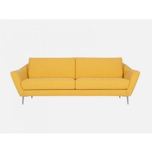 Sofa Agda żółta MOON 3 yellow nogi alu  E1843-0400-2S-MOON3-128ALU, Sits