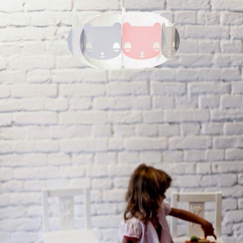 Lampa dziecięca Mishka biały + czerwony z zawieszeniem (+ 11 zł) z kategorii oświetlenie