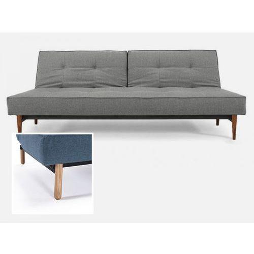 Sofa Splitback szara 216 nogi jasne drewno Stem  741010216-741041-1-2, INNOVATION iStyle