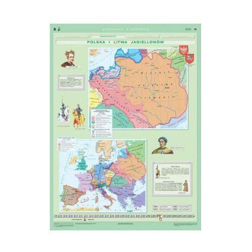 Polska i Litwa Jagiellonów / Rzeczpospolita i Europa w okresie renesansu. Mapa ścienna Polski i Europy, produkt marki Nowa Era
