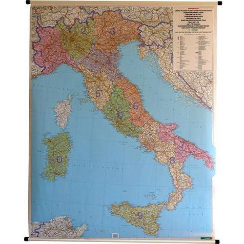 Włochy. Mapa ścienna kodów pocztowych 1:1 mln wyd. , produkt marki Freytag&Berndt
