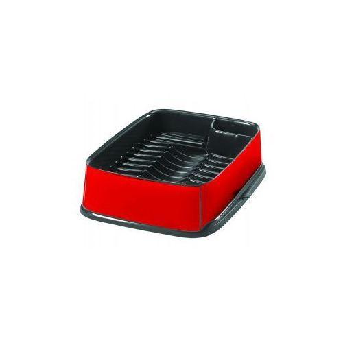 Curver - Suszarka do naczyń prostokątna w kolorze czerwono-grafitowym - produkt z kategorii- suszarki do naczyń