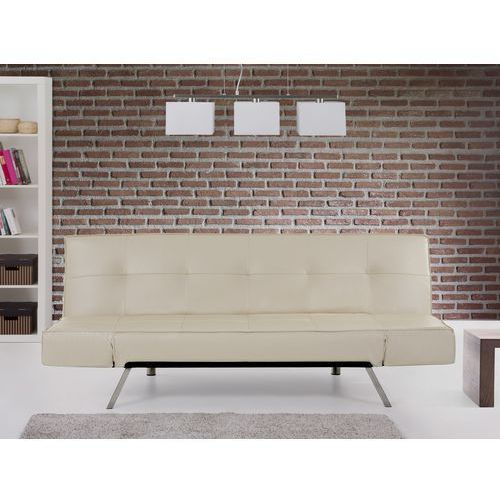 Rozkladana sofa bezowa ruchome podlokietniki BRISTOL, Beliani