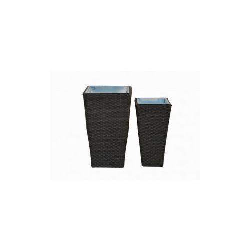 Produkt Donica eco rattan Riviera -  - czarna 58,5 x 58,5 x 69,5 cm, marki Miloo