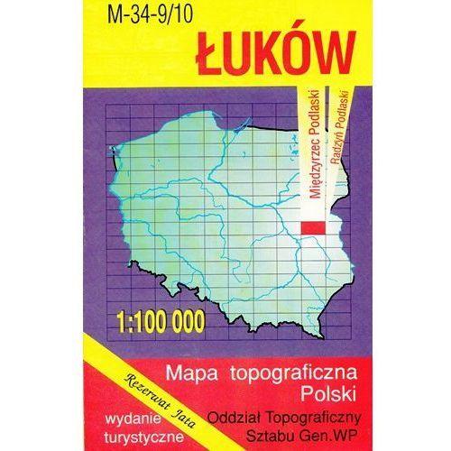 M-34-9/10 Łuków. Mapa topograficzno-turystyczna 1:100 000 wyd. WZ-Kart, produkt marki Wojskowe Zakłady Kartograficzne
