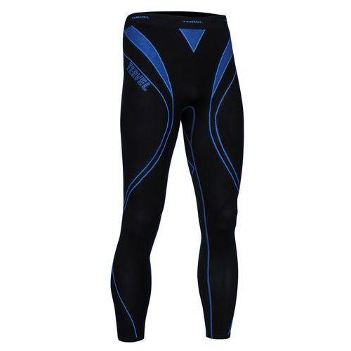 TERVEL OPTILINE męskie spodnie do biegania OPT3004, czarno-niebieskie - produkt z kategorii- spodnie męskie