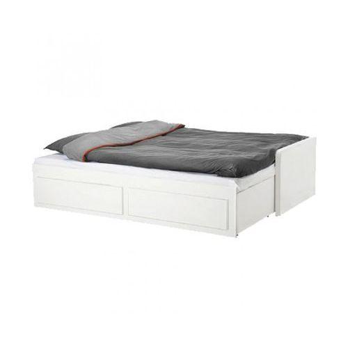 Łóżko Prana rozkładane 90/180x200 cm, białe, wysoki połysk ze sklepu FUTURI Nowoczesne Meble