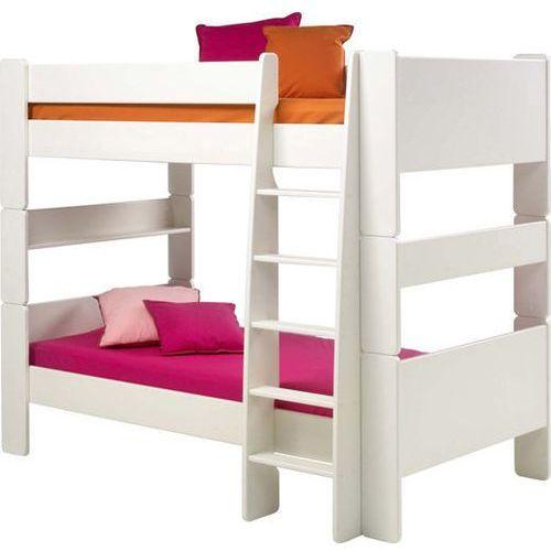 Łóżko piętrowe podwójne Steens for kids - biały mdf ze sklepu Meble Pumo