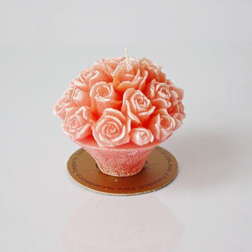 Produkt Świeca dekoracyjna DONICZKA RÓŻA, marki CandleTrend