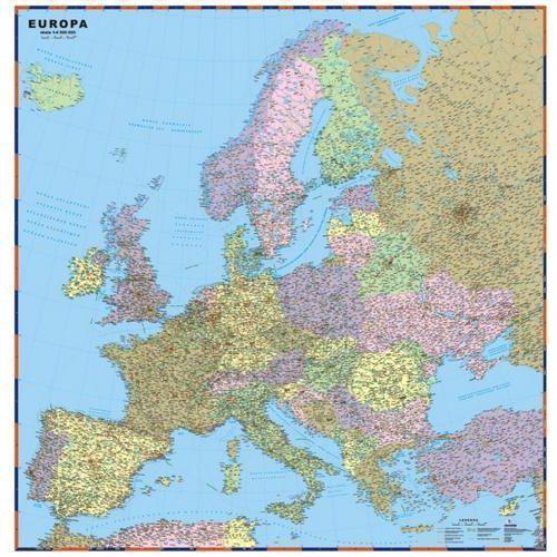 Europa. Mapa ścienna polityczno-drogowa 1:4 500 000 wyd. , produkt marki ExpressMap