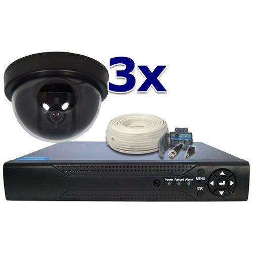 Zestaw do monitoringu: Rejestrator 4 kanałowy, 3 x Kamera LV-N600DF