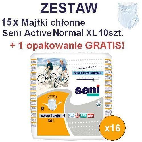 15+1 GRATIS! Majtki chłonne Seni Active Normal XL 10szt., kup u jednego z partnerów