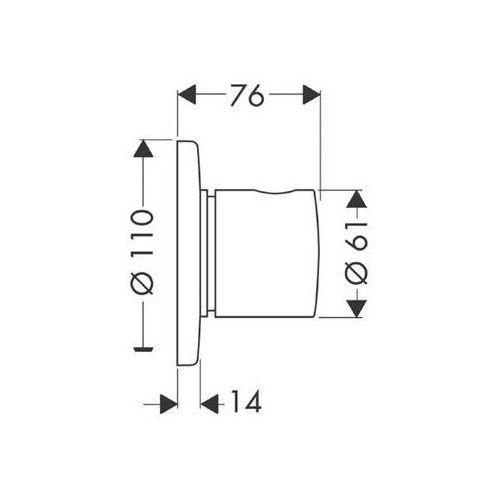 Hansgrohe Trio/quattro s element zewnętrzny  chrom 15932