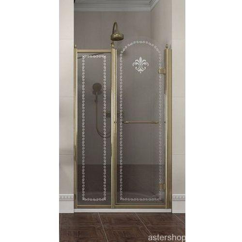 ANTIQUE drzwi prysznicowe do wnęki 100cm prawe szkło z wzorem GQ4610R (drzwi prysznicowe)