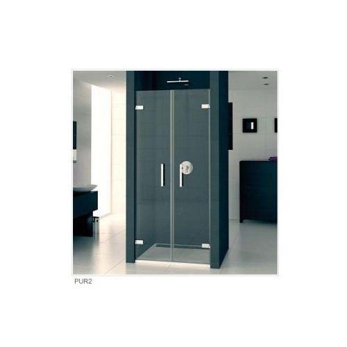 SANSWISS PUR drzwi do wnęki dwuskrzydłowe PUR2 (drzwi prysznicowe)