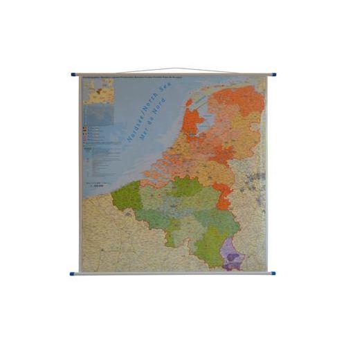 Benelux Belgia Holandia Luksemburg mapa ścienna kody pocztowe 1:420 000 , produkt marki Stiefel