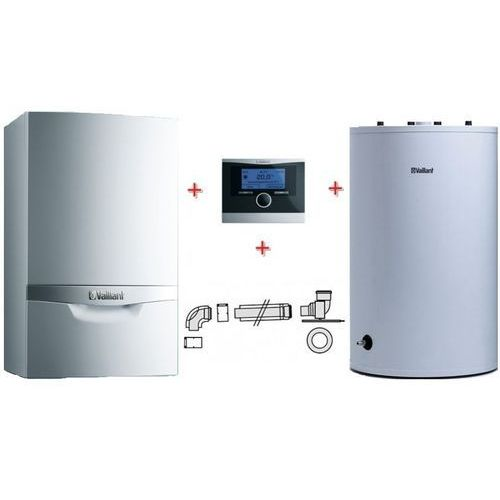 Vaillant ecoTEC VC plus 306/5-5 + VIH R 150 + calorMATIC 470 + zestaw do szachtu 303920 - (Pakiet), towar z kategorii: Kotły gazowe