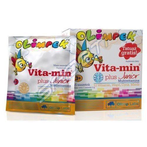 Olimpek vita-min plus junior multivitamina x 15 saszetek o smaku malinowym, postać leku: proszek